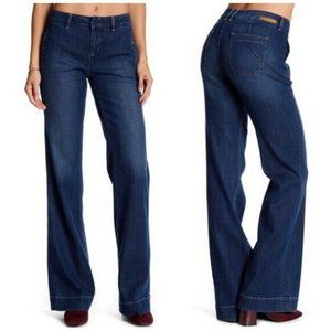 Level 99 Natasha High Waist Trouser Dark Wash Jean